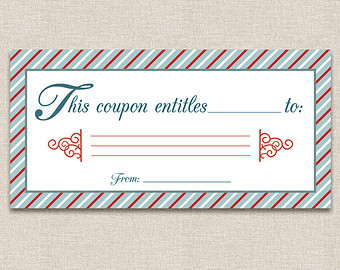 Printable Birthday Coupon Template Printable Coupons Blank