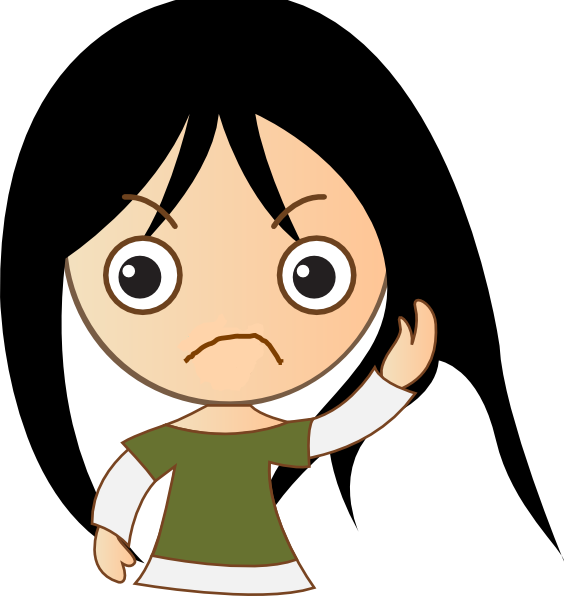 Sad Teenage Girl Clipart - Clipart Kid