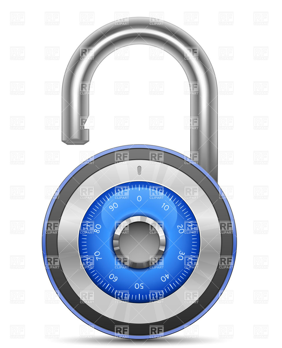 Security Combination Lock Icon Download Royalty Free Vector Clipart