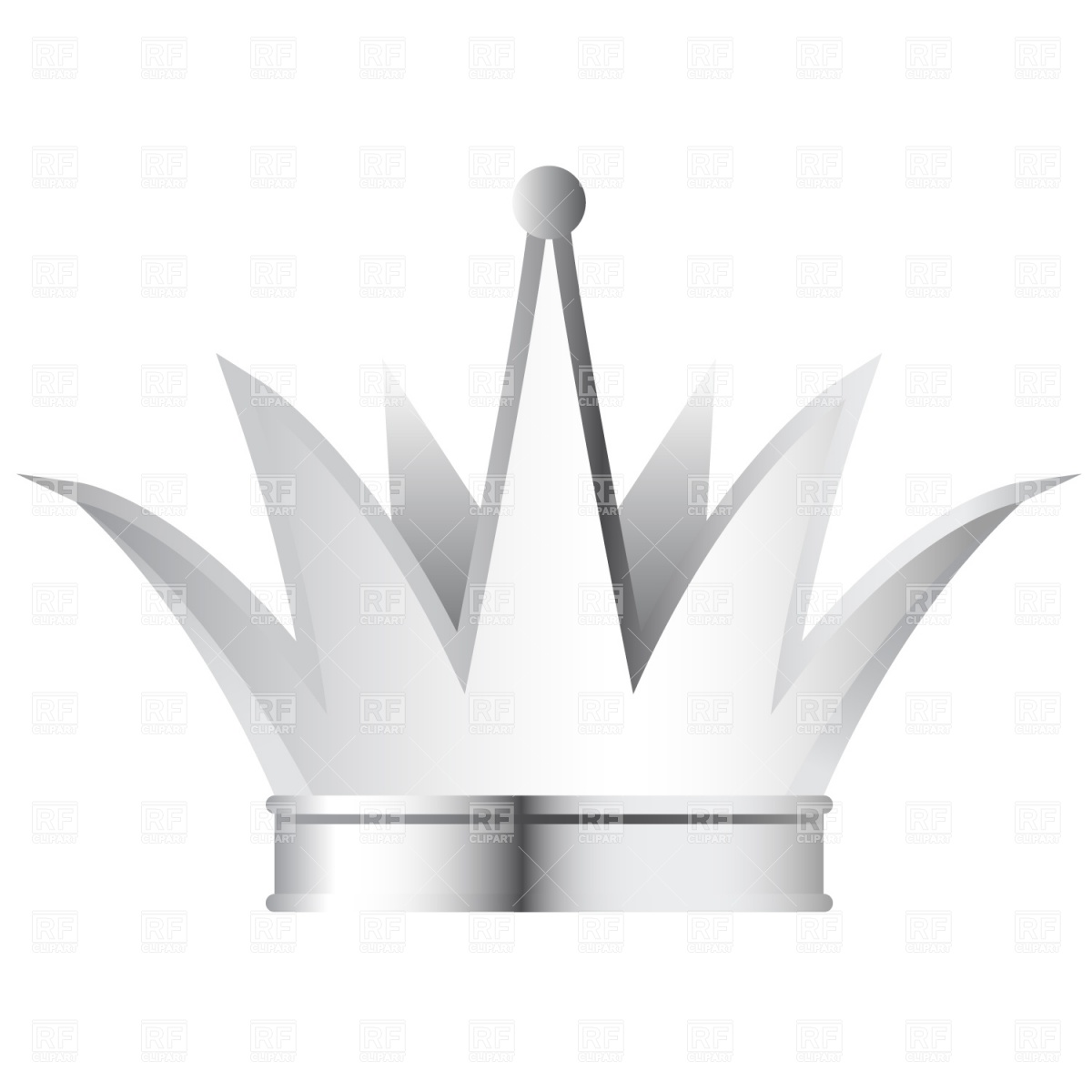 Silver Crown 1008 Objects Download Royalty Free Vector Clipart  Eps