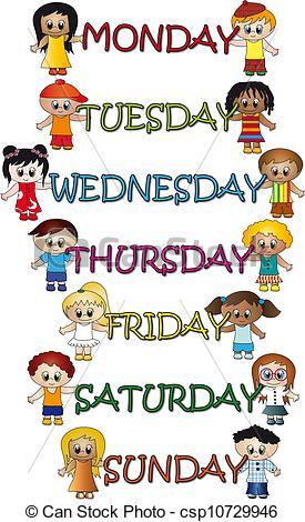 days of week calendar clipart clipart suggest days of the week clip art quotes days of the week clipart words clipart