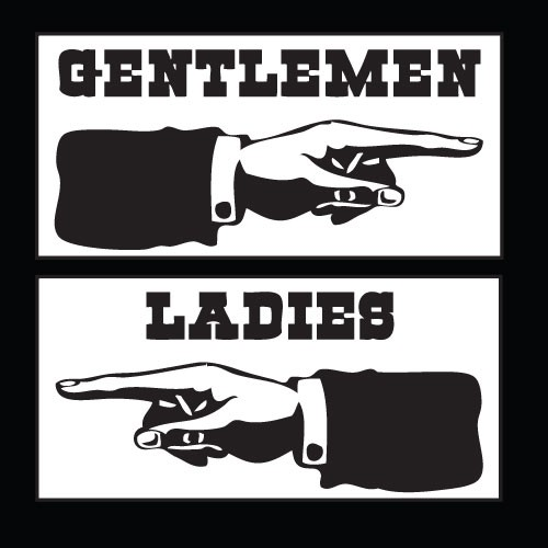 Vintage Restroom Signs Ladies And Gentlemen Illustrations 09942