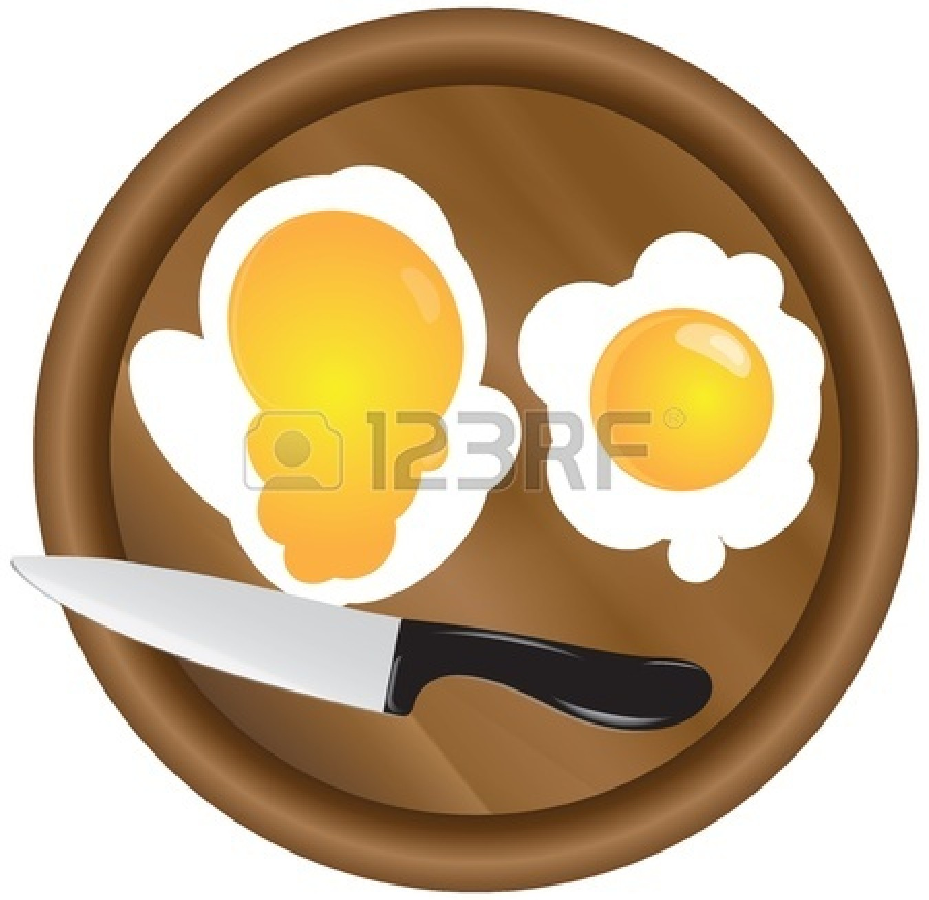Yolk Clipart Black And White 15472814 Scrambled Eggs With Two Yolks