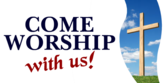 Church Worship With Us Church Worship With Us Banner Sign