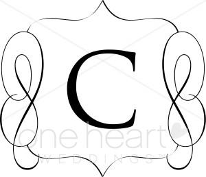 classic monogram a clipart classic monogram b clipart classic monogram