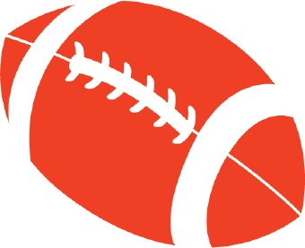 Clip Art Of A Football With White Laces And Stripes