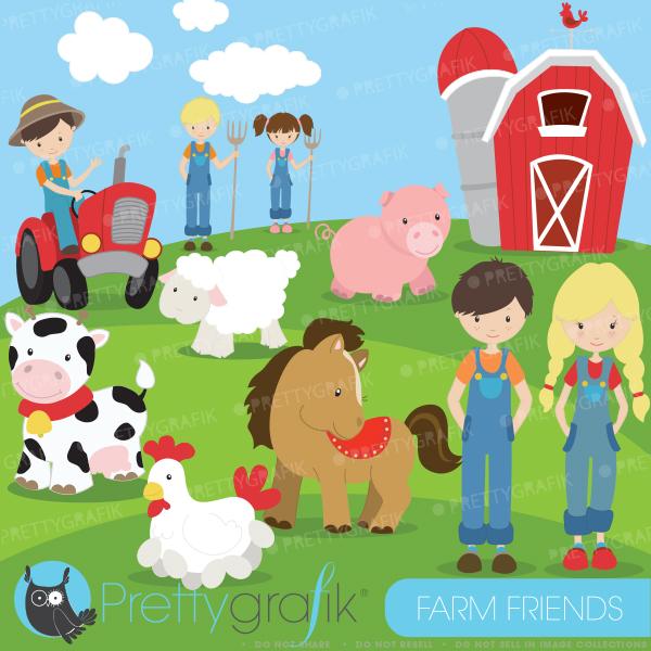 Cute Animal Farmer Clipart - Clipart Kid