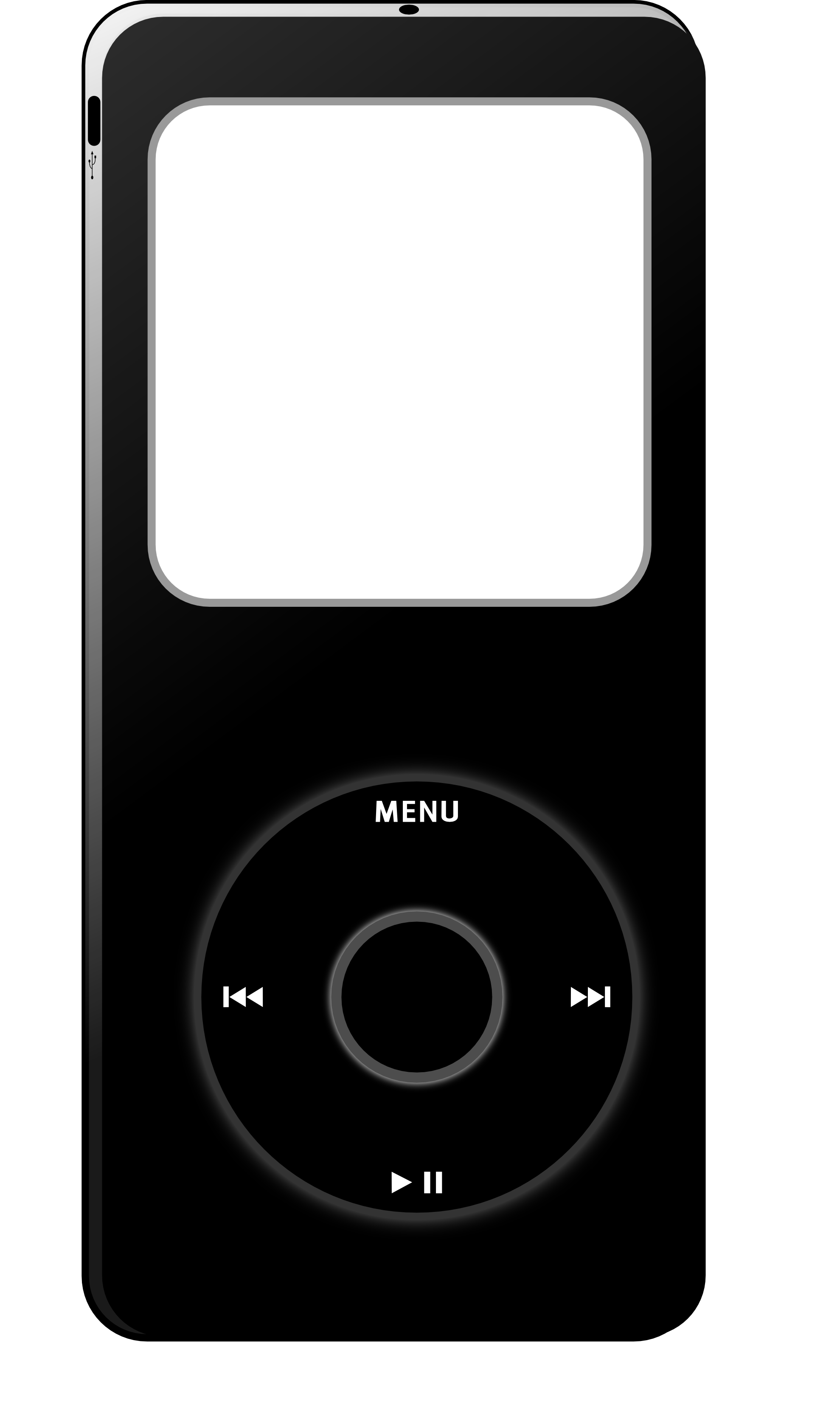 Ipod Black And White Clipart - Clipart Suggest