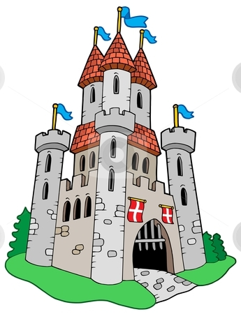 Medieval Castle Stock Vector Clipart Medieval Castle   Vector