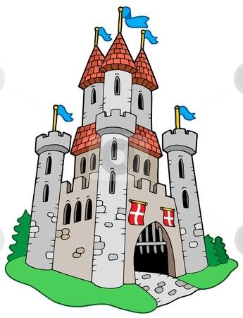 Clip Art Medieval Clip Art medieval knight and castle clipart kid stock vector vector