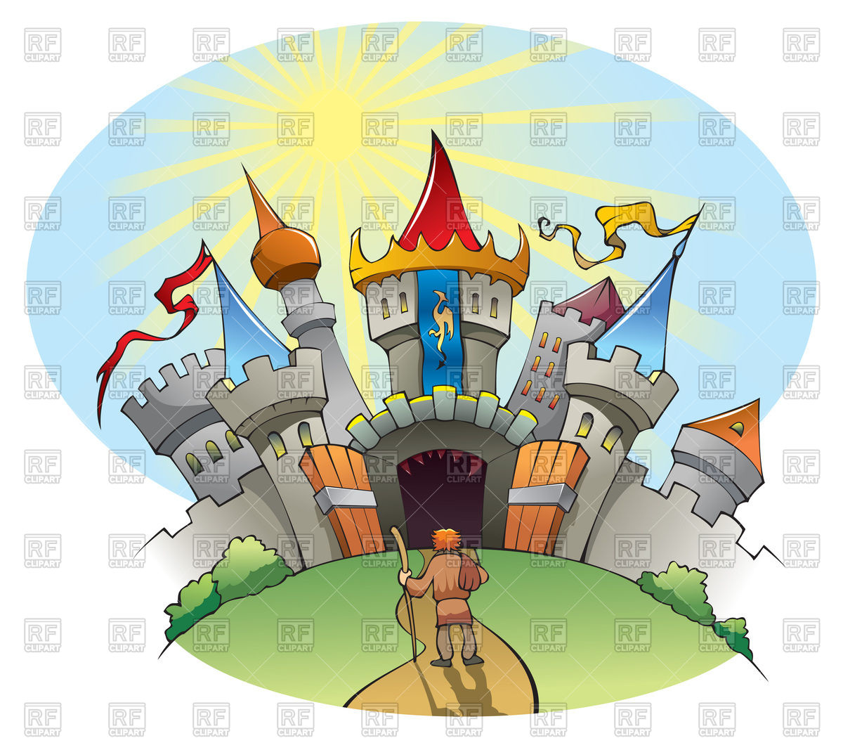 Medieval City Castle 98557 Download Royalty Free Vector Clipart