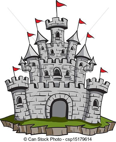 Old Medieval Stone Castle Illustration Csp15179614   Search Clipart