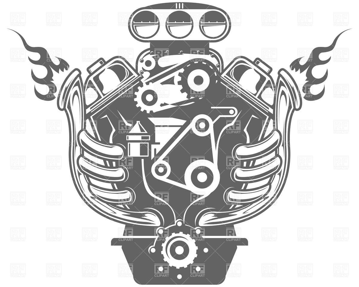 Racing Engine 4739 Transportation Download Royalty Free Vector Clip