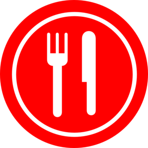 Red Plate With Knife And Fork Clip Art At Clker Com   Vector Clip Art
