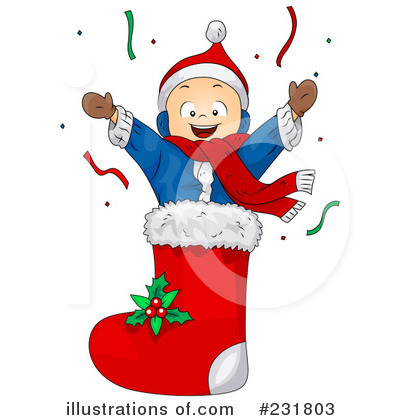 Royalty Free  Rf  Christmas Stocking Clipart Illustration  231803 By