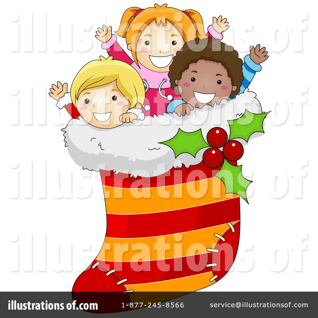Royalty Free  Rf  Christmas Stocking Clipart Illustration  434672 By