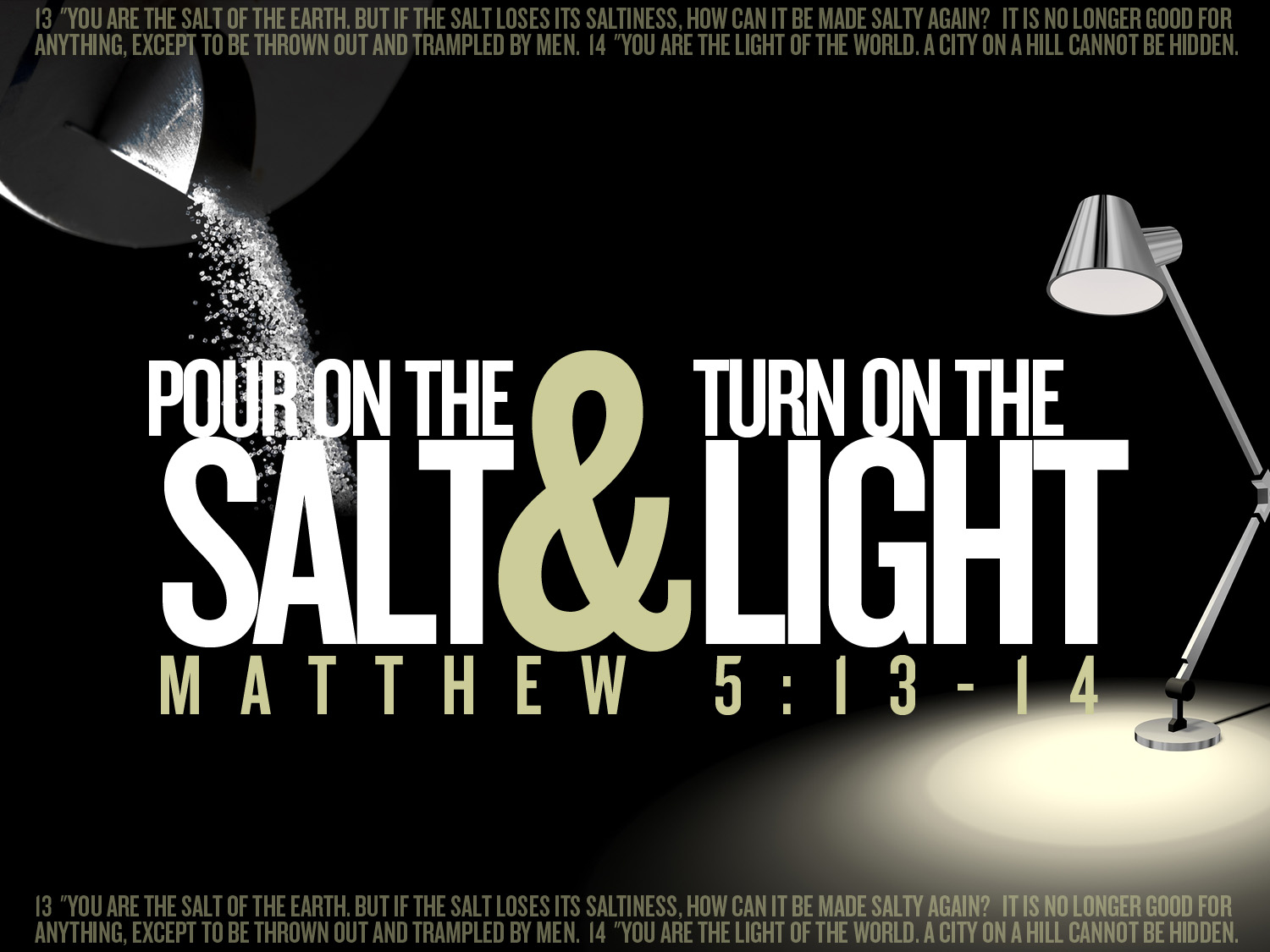 The Theatre Of Our Lives That You Have Called Us To Be Salt And Life