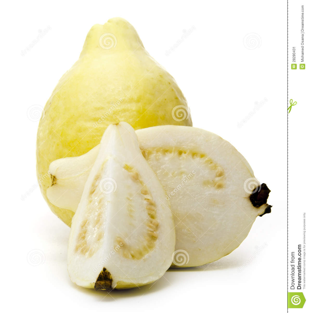 White Guava Full And Sliced Stock Image   Image  28280431
