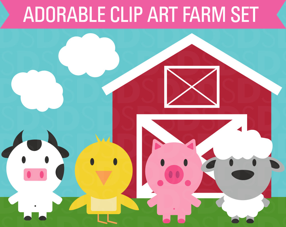 301 Moved Permanently: Barn Animals Clipart
