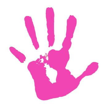 Hand Print Clipart - Clipart Kid