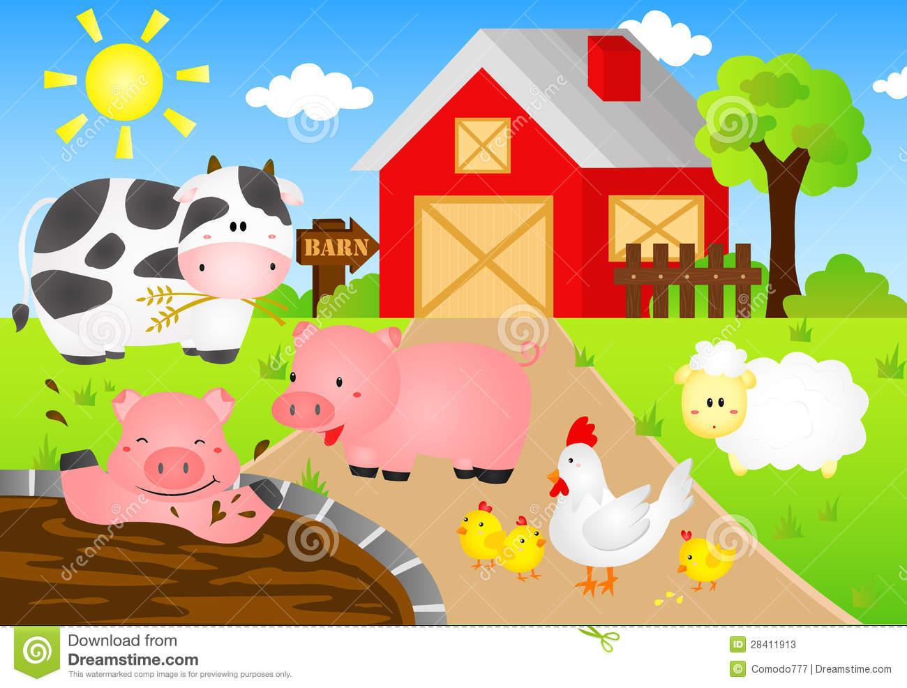 Barn Animals Stock Photos   Image  28411913