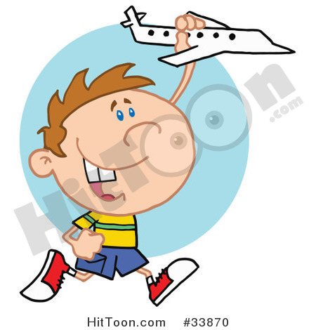 Boy Clipart  33870  Little Boy Having Fun Smiling And Running With A