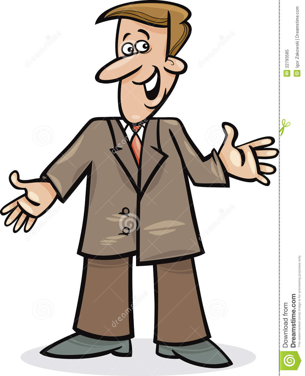 Cartoon Man In Suit Royalty Free Stock Photo   Image  22793585