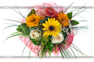 Colorful Floral Bouquet Of Roses And Sunflowers   High Resolution
