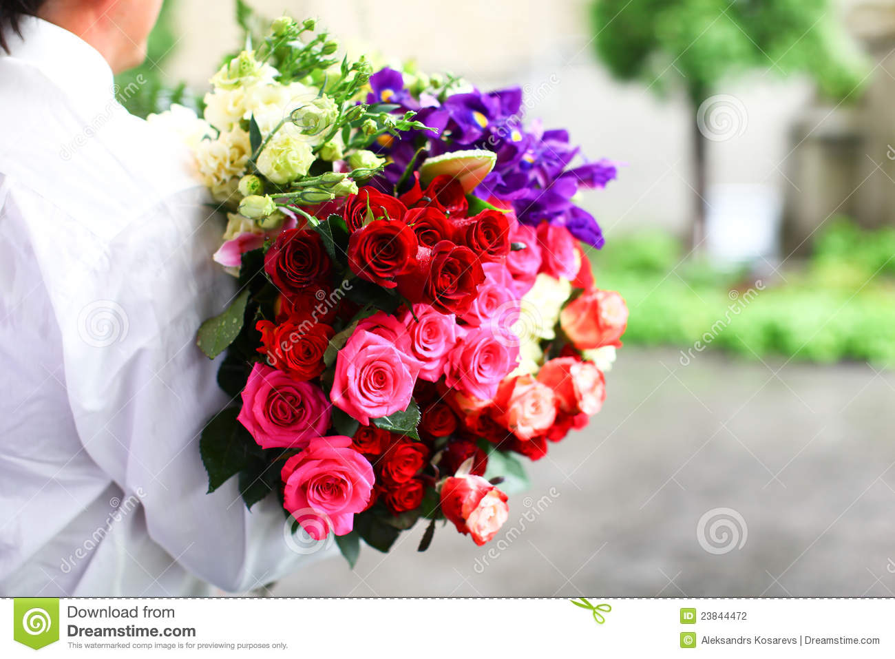 Colorful Wedding Bouquet Of Roses Stock Photography   Image  23844472