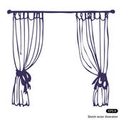 Curtains   Clipart Graphic
