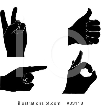Hand Signal Clipart  33118 By Elaine Barker   Royalty Free  Rf  Stock