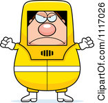 Hazardous Materials Removal Worker Royalty Free Clipart Graphic By