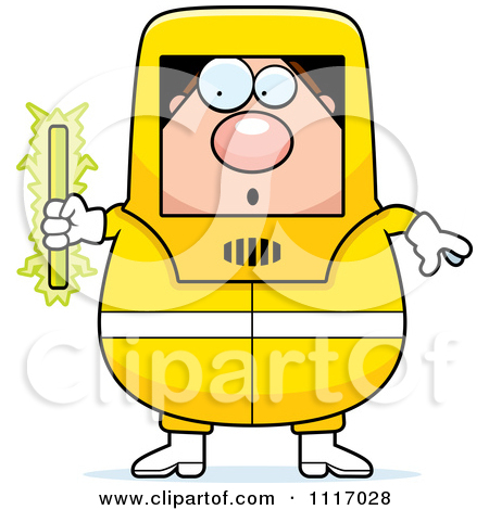 Hazmat Hazardous Materials Removal Worker   Royalty Free Clipart