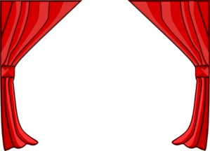 Just Red Curtains Clip Art