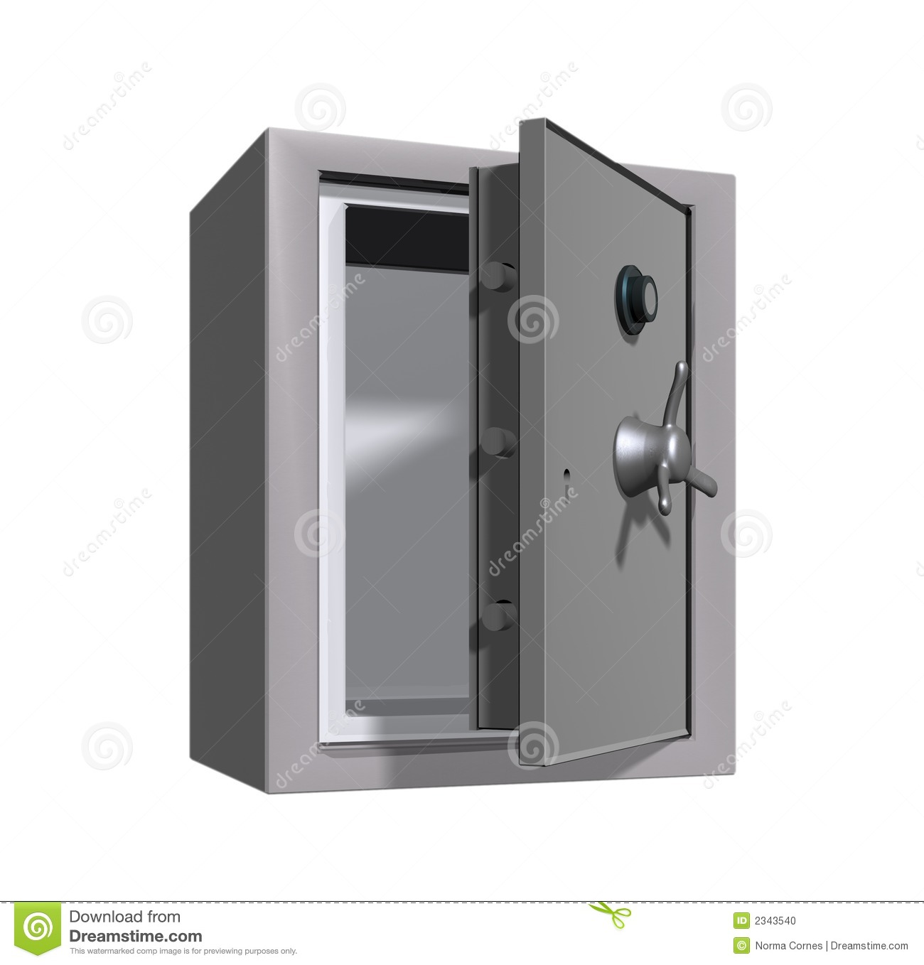Open Bank Vault Vector Open Safe Cash Bank