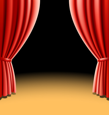 Red Theater Curtain Vector Curtains Theater Artists Curtains Clip Art