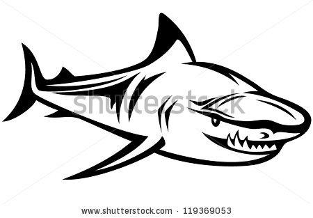 Shark Black And White Clipart Shark Fin Clipart Black