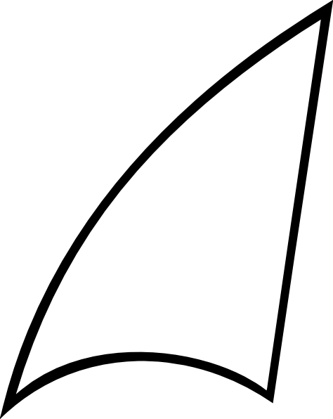 Shark Fin Shape Clip Art At Clker Com   Vector Clip Art Online