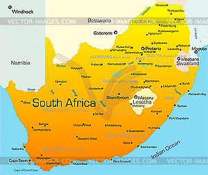 South Africa Country   Vector Clipart