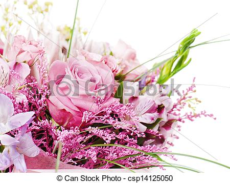 Stock Images Of Fragment Of Colorful Bouquet Of Roses Cloves Orchids