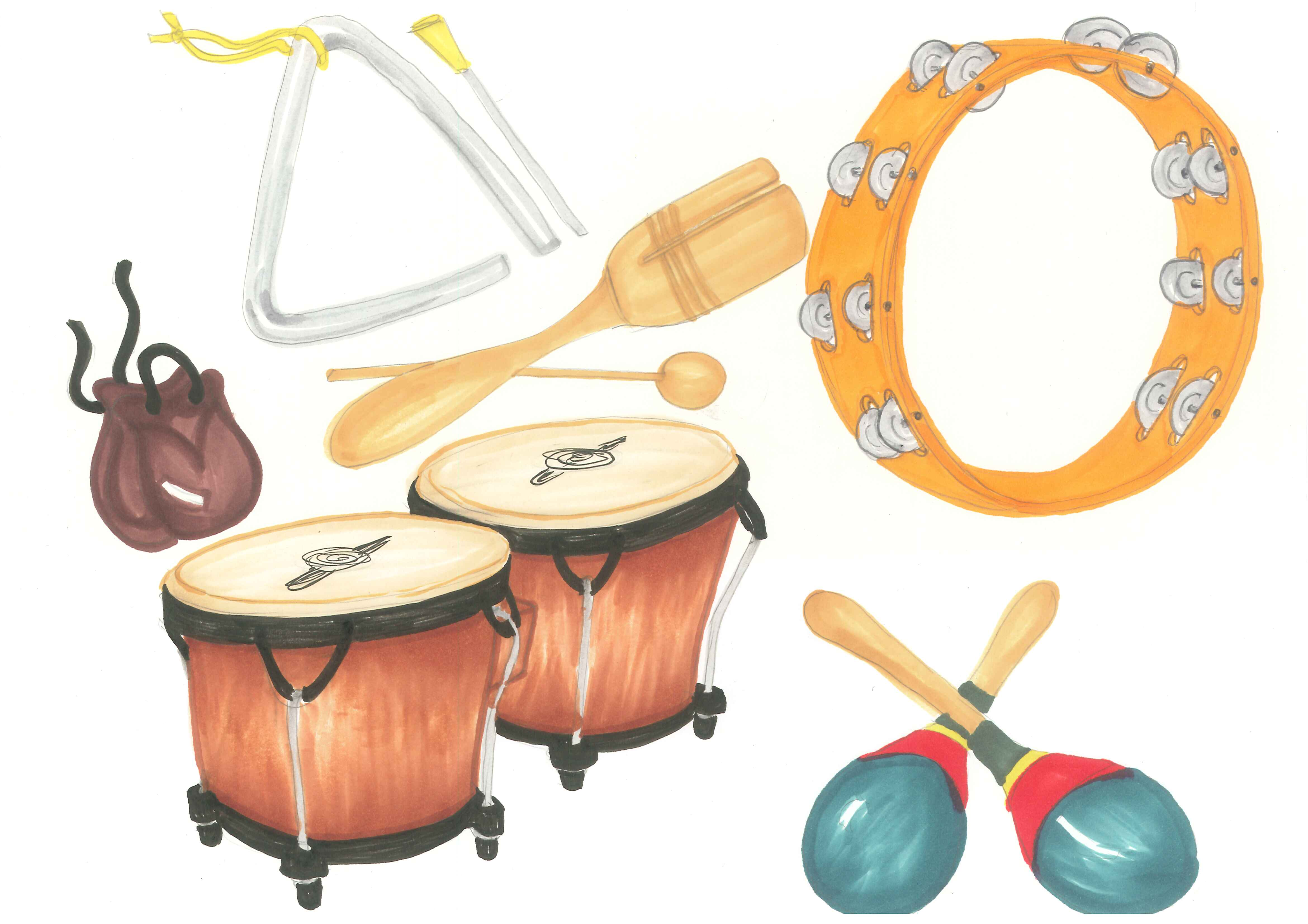Percussion Instruments Clipart - Clipart Suggest