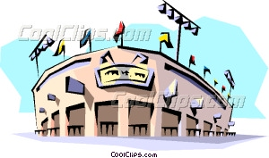 Baseball Stadium Vector Clip Art