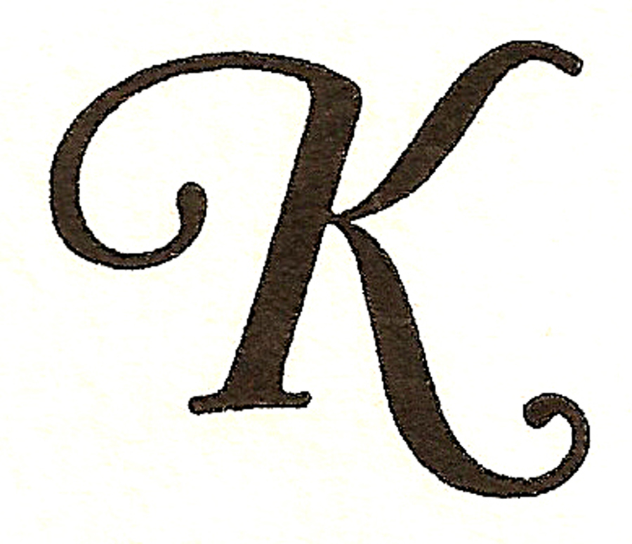 By Request Today S Monogram Monday Brings You The Letter K In Various