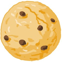 Clip Art Of A Large Chocolate Chip Or Oatmeal Raisin Cookie