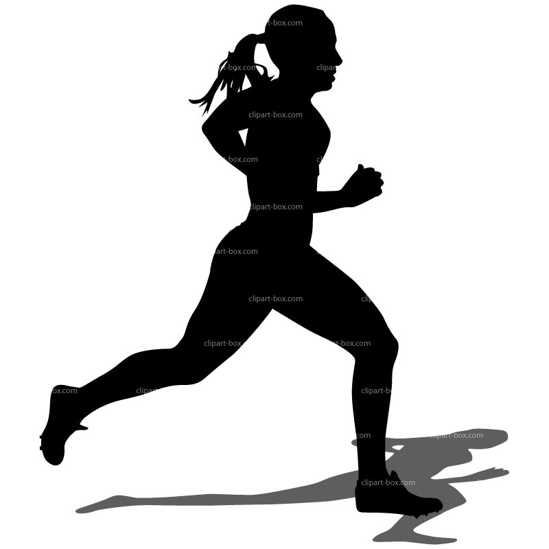 Clipart Girl Running   Royalty Free Vector Design