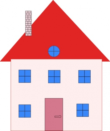 Colonial House Home Real Estate Clip Art Vector Free Vector Graphics