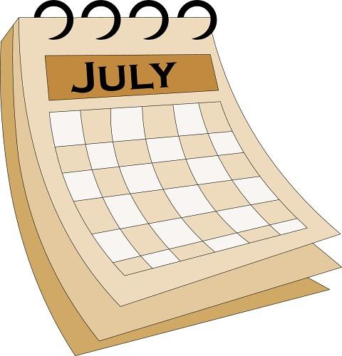 July Calendar Clipart - Clipart Kid