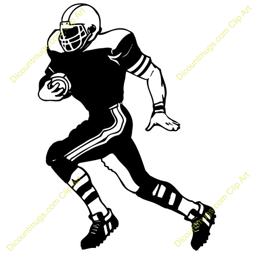 Football Player Clipart - Synkee