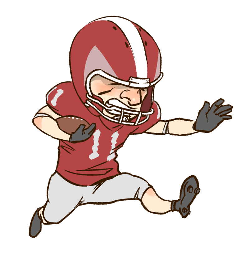 Free American Football Player Clip Art