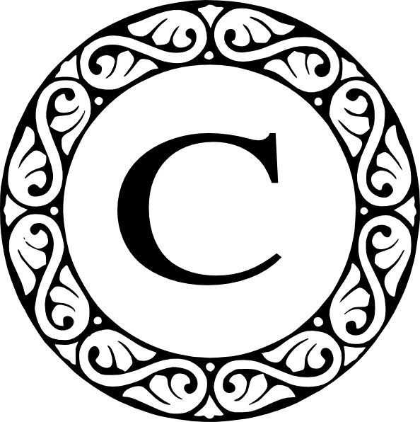 letter c monogram clip art at clker com vector clip art online